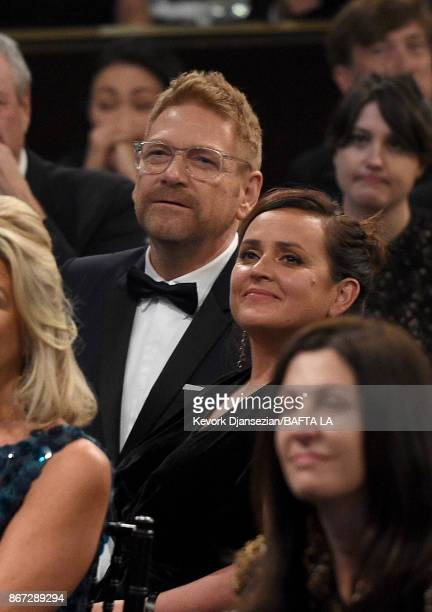 Kenneth Branagh and Lindsay Brunnock attend the 2017 AMD British Academy Britannia Awards Presented by American Airlines And Jaguar Land Rover at The...