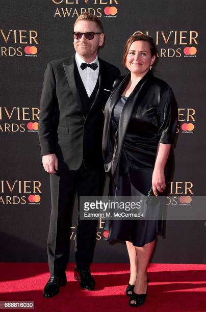 Kenneth Branagh and Lindsay Brunnock attend The Olivier Awards 2017 at Royal Albert Hall on April 9, 2017 in London, England.