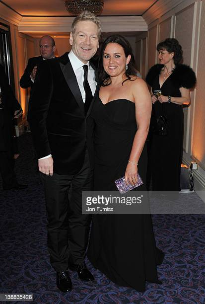 Kenneth Branagh and Lindsay Brunnock attend the Orange British Academy Film Awards 2012 after party at Grosvenor House on February 12 2012 in London...