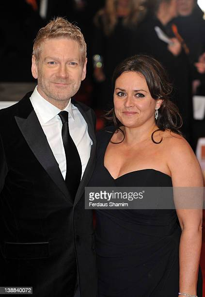 Kenneth Branagh and Lindsay Brunnock attend the Orange British Academy Film Awards 2012 at the Royal Opera House on February 12 2012 in London England