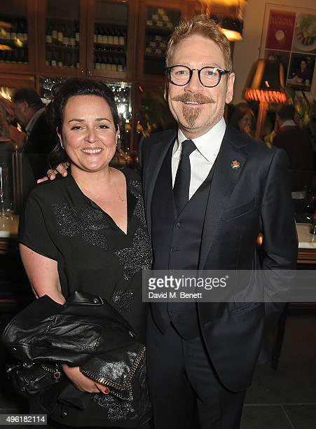 Kenneth Branagh and Lindsay Brunnock attend the press night after party for The Winter's Tale by the Kenneth Branagh Theatre Company at The National...