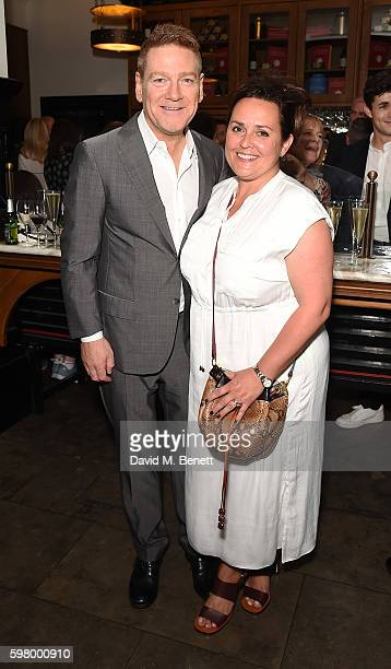 Kenneth Branagh and Lindsay Brunnock attend the press night party for The Entertainer the final production in The Kenneth Branagh Theatre Company's...