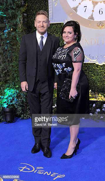 Kenneth Branagh and Lindsay Brunnock attend the UK Premiere of Cinderella at Odeon Leicester Square on March 19 2015 in London England