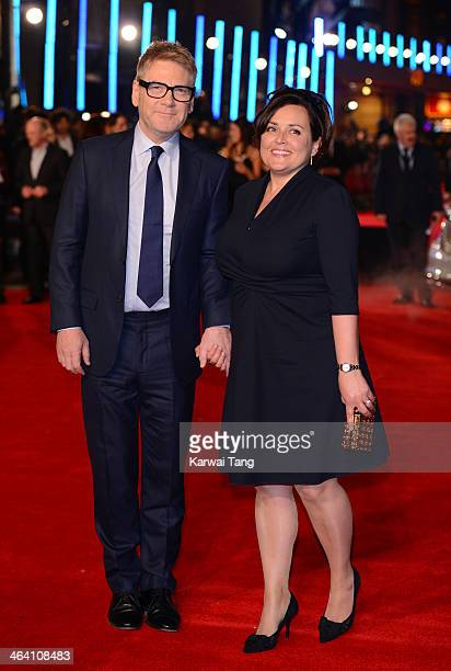 Kenneth Branagh and Lindsay Brunnock attend the UK Premiere of Jack Ryan Shadow Recruit at the Vue Leicester Square on January 20 2014 in London...