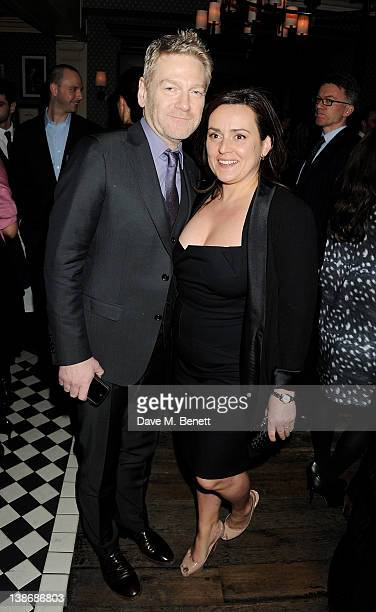 Kenneth Branagh and Lindsay Brunnock attend The Weinstein Company Dinner Hosted By Grey Goose in celebration of BAFTA at Dean Street Townhouse on...
