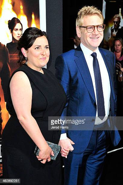 Kenneth Branagh and wife Lindsay Brunnock arrive at 'Jack Ryan: Shadow Recruit' - Los Angeles Premiere at TCL Chinese Theatre on January 15, 2014 in...