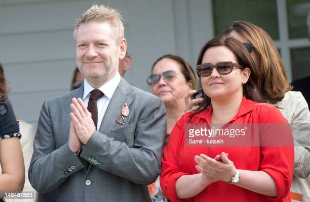 Kenneth Branagh and wife Lindsay Brunnock attend the Cartier Queen's Cup Final at Guards Polo Club on June 17 2012 in Egham England