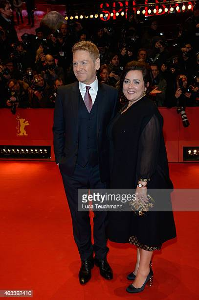 Kenneth Branagh and wife Lindsay Brunnock attend the 'Cinderella' premiere during the 65th Berlinale International Film Festival at Berlinale Palace...