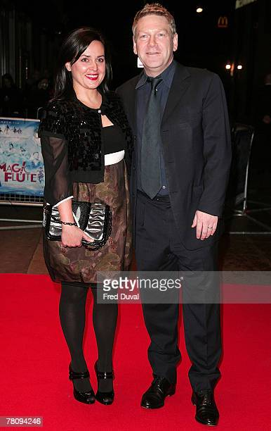 Kenneth Branagh and wife Lindsay Brunnock attends 'The Magic Flute' UK Premiere at the Odeon West End on November 26 2007 in London England