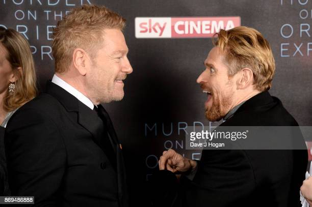 Kenneth Branagh and Willem Dafoe attend the 'Murder On The Orient Express' World Premiere at Royal Albert Hall on November 2 2017 in London England
