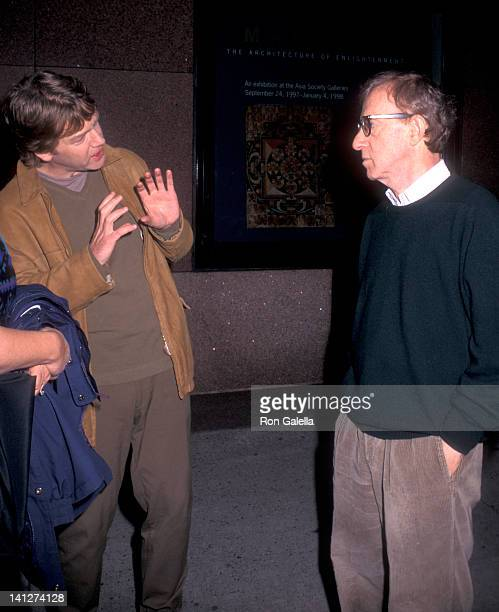 Kenneth Branagh and Woody Allen at the On the Set of Woody Allen's 'Celebrity' The Asia House 60th Street New York City