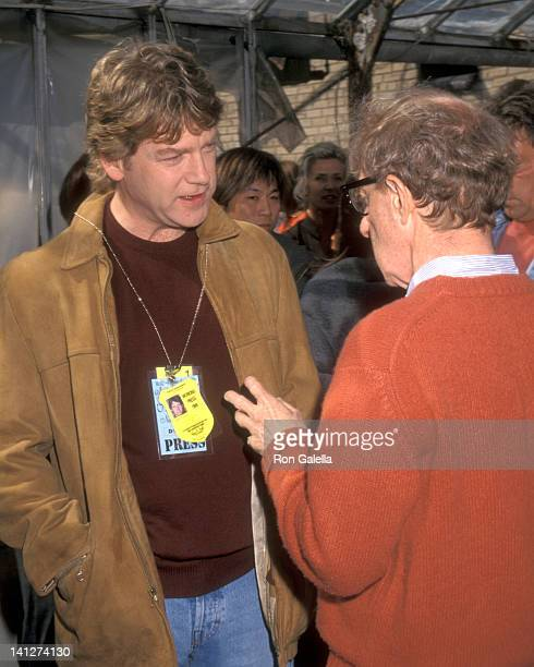 Kenneth Branagh and Woody Allen at the On the Set of Woody Allen's 'Celebrity' Atrium Studio New York City