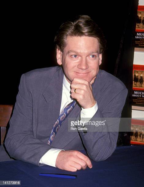 Kenneth Branagh at the Kenneth Branagh Autographs Copies of 'Much Ado About Nothing' Barnes Noble Bookstore New York City
