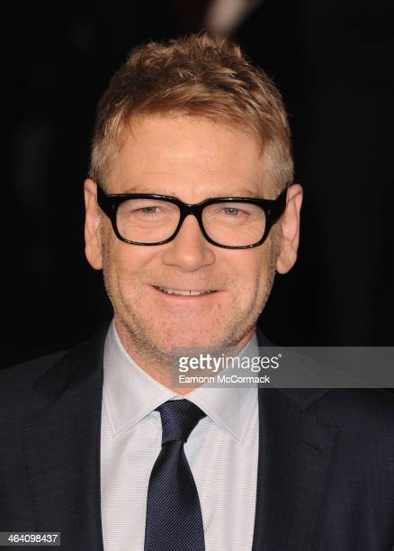 Kenneth Branagh attends the UK Premiere of 'Jack Ryan Shadow Recruit' at Vue Leicester Square on January 20 2014 in London England