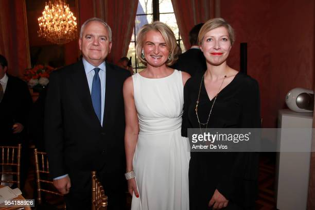 Kenneth Buckfire Olivia Flatto and AnneClaire Legendre attend the Launch of the Paris Opera 350th Anniversary in New York with the American Friends...