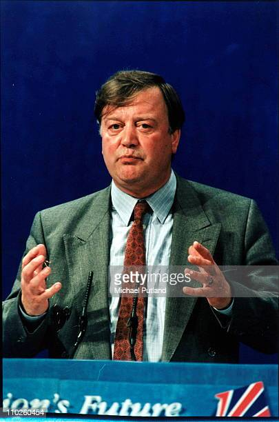 Kenneth Clarke at the Conservative Party Conferennce, UK, 1995.