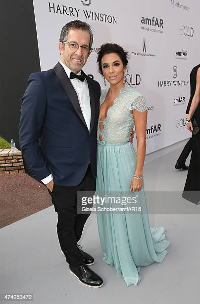 Kenneth Cole and Actress Eva Longoria attend amfAR's 22nd Cinema Against AIDS Gala Presented By Bold Films And Harry Winston at Hotel du CapEdenRoc...