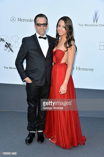 Kenneth Cole and Catie Cole arrives at amfAR's 20th Annual Cinema Against AIDS at Hotel du CapEdenRoc on May 23 2013 in Cap d'Antibes France