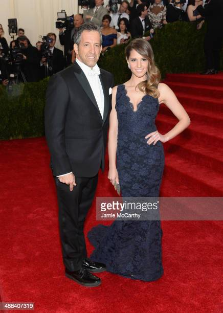 Kenneth Cole and Emily Cole attend the Charles James Beyond Fashion Costume Institute Gala at the Metropolitan Museum of Art on May 5 2014 in New...