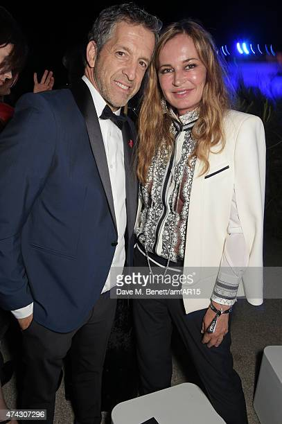Kenneth Cole and Eva Cavalli attend the after party at amfAR's 22nd Cinema Against AIDS Gala Presented By Bold Films And Harry Winston at Hotel du...