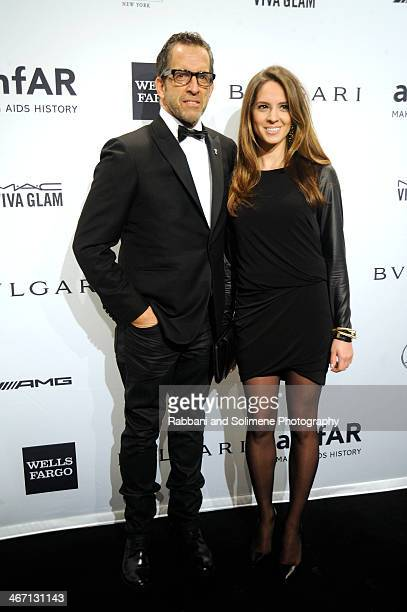 Kenneth Cole and Maria Cuomo attends the 2014 amfAR New York Gala at Cipriani Wall Street on February 5 2014 in New York City