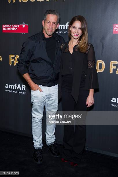 Kenneth Cole and Maria Cuomo Cole attend 2017 amfAR and The Naked Heart Foundation Fabulous Fund Fair at Skylight Clarkson Sq on October 28 2017 in...
