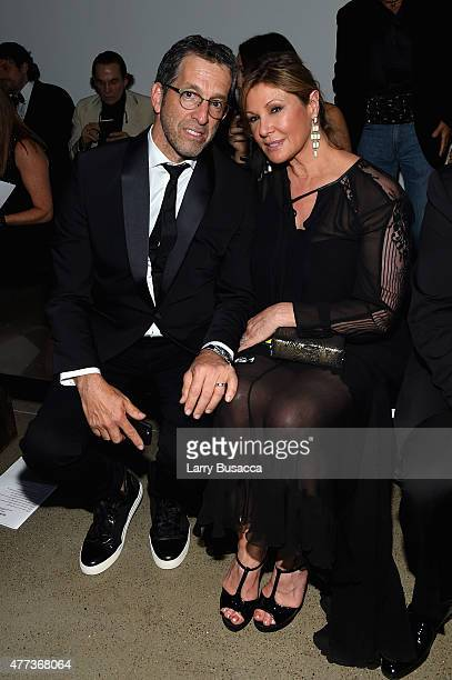 Kenneth Cole and Maria Cuomo Cole attend the 2015 amfAR Inspiration Gala New York at Spring Studios on June 16 2015 in New York City