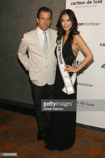Kenneth Cole and Miss Universe Riyo Mori during Amfar 7th Annual Honoring With Pride at The Rainbow Room at 30 Rockefeller Plaza in New York City New...
