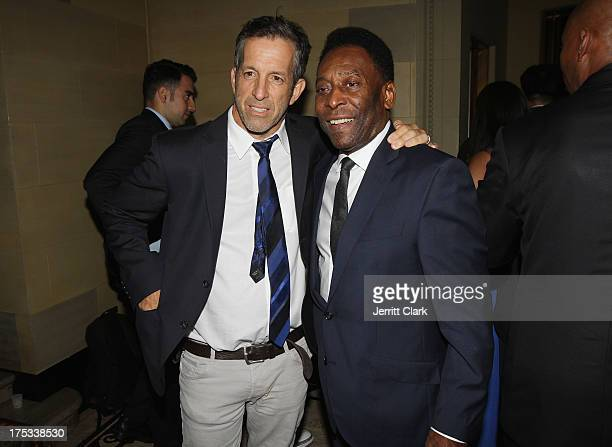 Kenneth Cole and Pele attends the New York Cosmos Legends Gala at Gotham Hall on August 1 2013 in New York City