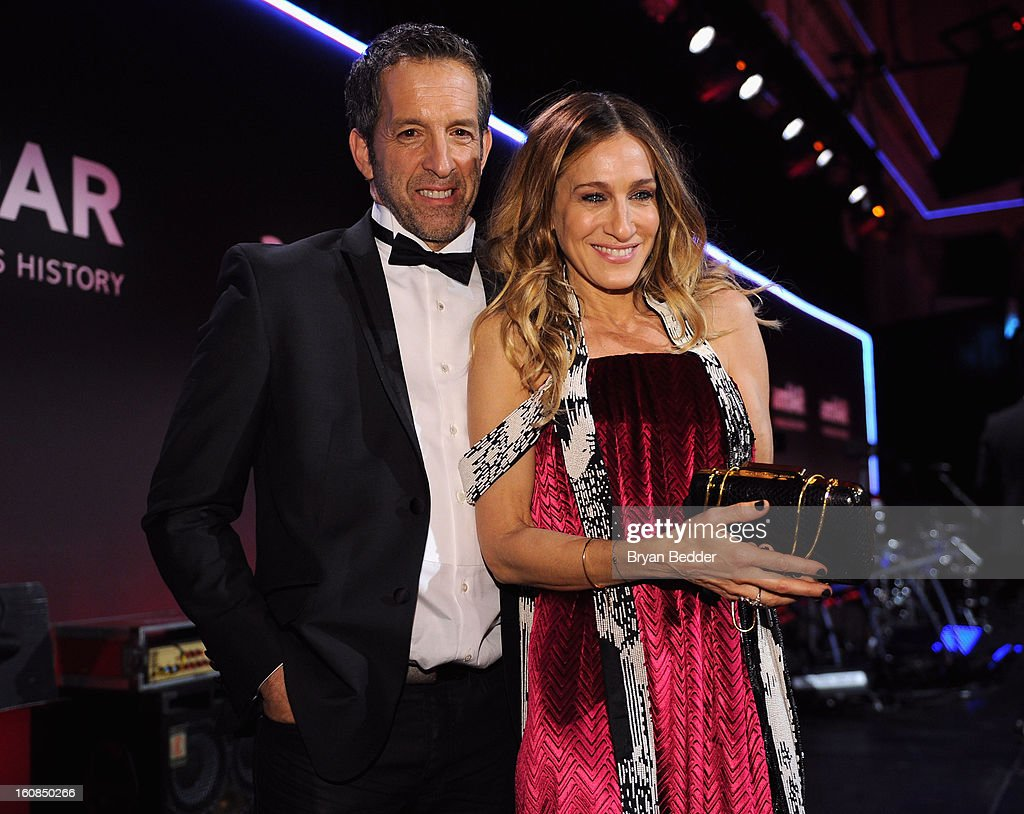 Kenneth Cole (L) and Sarah Jessica Parker attend the amfAR New York Gala to kick off Fall 2013 Fashion Week at Cipriani Wall Street on February 6, 2013 in New York City.