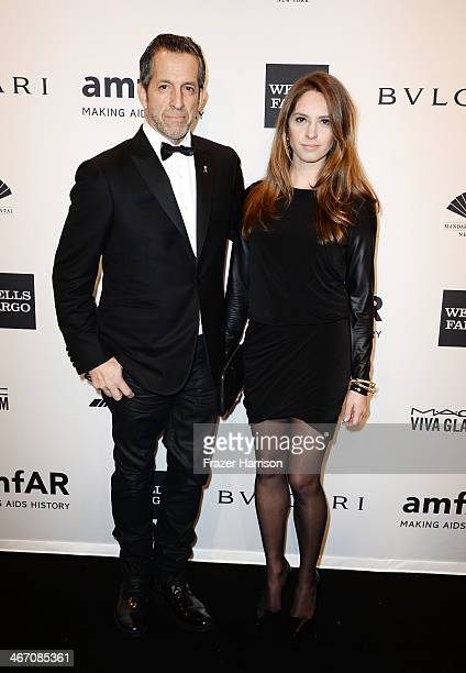 Kenneth Cole and wife Maria Cuomo attend the 2014 amfAR New York Gala at Cipriani Wall Street on February 5 2014 in New York City