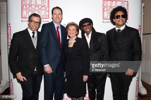 Kenneth Cole ATT chairman and chief executive officer Randall L Stephenson Matilda Cuomo Nile Rodgers and ELEW attend Help USA's 2014 Tribute Awards...