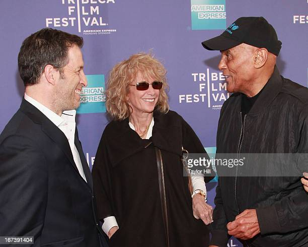 Kenneth Cole Pamela Frank and Harry Belafonte attend the screening of Battle of amfAR Beyond The Screens The Artist's Angle during the 2013 Tribeca...