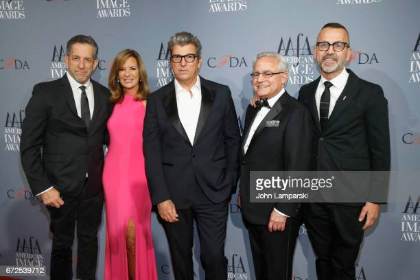 Kenneth Cole Paula Zusi Andrew Rosen Rick Helfenbein and Steven Kolb attend the 39th annual AAFA American Image Awards at 583 Park Avenue on April 24...