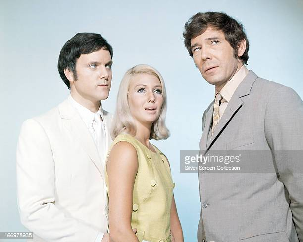 Kenneth Cope as the ghost of Marty Hopkirk Annette Andre as his wife Jeannie and Mike Pratt as Jeff Randall in a promotional portrait for the British...