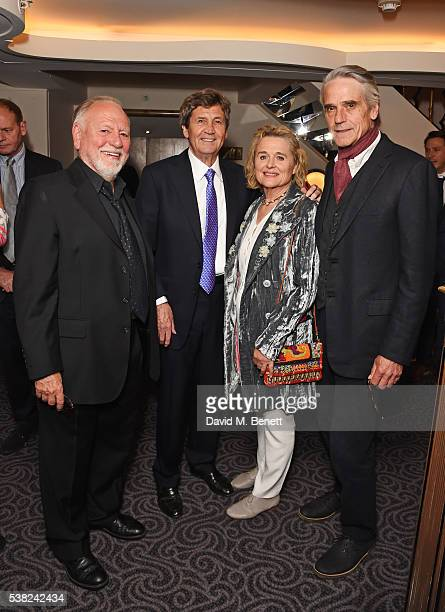 Kenneth Cranham Lord Melvyn Bragg Sinead Cusack and Jeremy Irons attend the The South Bank Sky Arts Awards airing on Wednesday 8th June on Sky Arts...