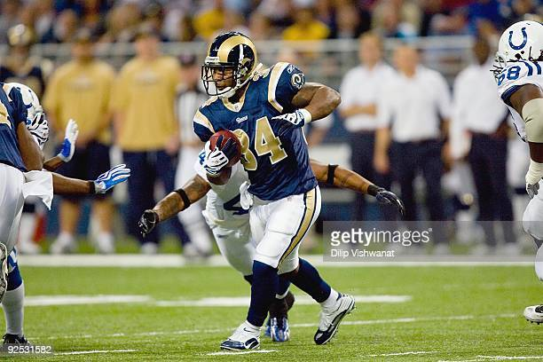 Kenneth Darby of the St Louis Rams carries the ball against the Indianapolis Colts at the Edward Jones Dome on October 25 2009 in St Louis Missouri