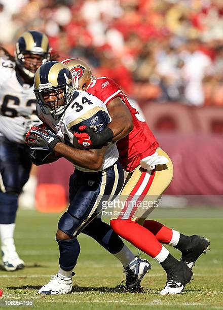 Kenneth Darby of the St Louis Rams in action against the San Francisco 49ers at Candlestick Park on November 14 2010 in San Francisco California