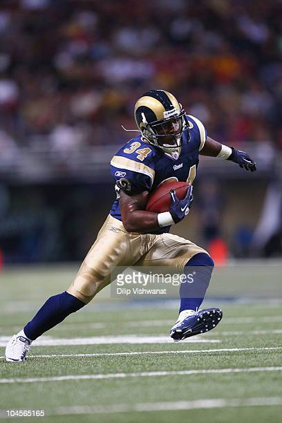 Kenneth Darby of the St Louis Rams in action against the Washington Redskins at the Edward Jones Dome on September 26 2010 in St Louis Missouri