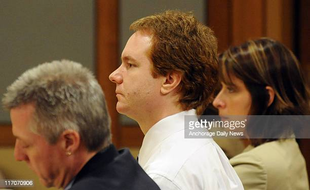 Kenneth Dion seated with his defense team during opening arguments of his murder trial in an Anchorage Superior courtroom on Tuesday May 17 2011 Dion...