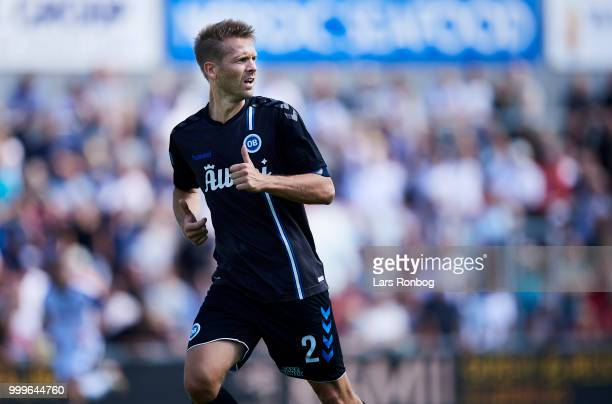 Kenneth Emil Petersen of OB Odense in action during the Danish Superliga match between Vendsyssel FF and OB Odense at Nord Energi Arena on July 15...