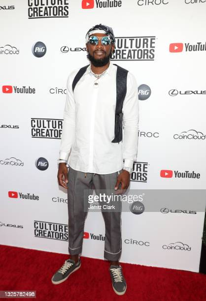 Kenneth Faried attends the Culture Creators Innovators & Leaders Awards at The Beverly Hilton on June 26, 2021 in Beverly Hills, California.