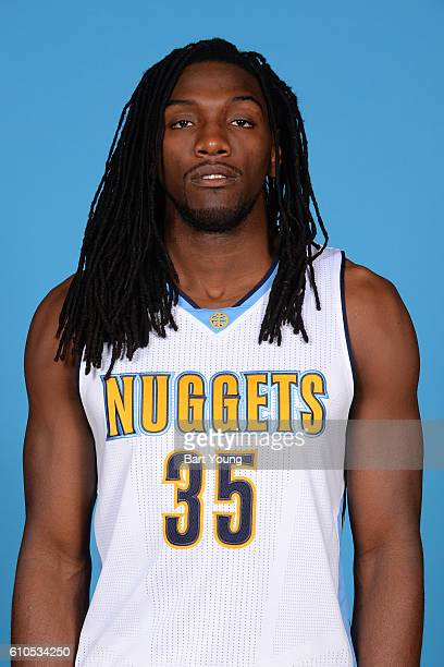 Kenneth Faried of the Denver Nuggets poses for a head shot during the 20162017 Media Day on September 26 2016 at the Pepsi Center in Denver Colorado...