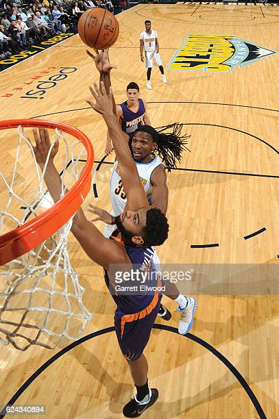 Kenneth Faried of the Denver Nuggets shoots the ball against the Phoenix Suns on November 16 2016 at the Pepsi Center in Denver Colorado NOTE TO USER...