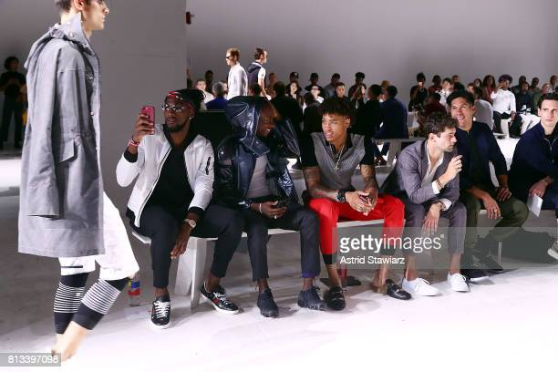ÊKenneth Faried Young Paris KellyÊOubre Sean O'Pry Chyno Miranda and Cory Michael Smith attend the EFM Engineered For Motion Spring/Summer 2018...