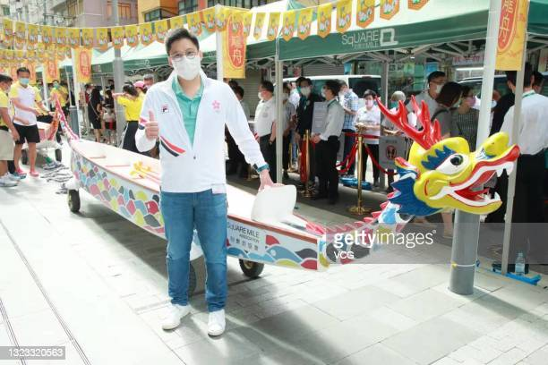 Kenneth Fok Kai-kong, vice-president of the Fok Ying Tung Group and the Sports Federation & Olympic Committee of Hong Kong, attends a dragon-boat...