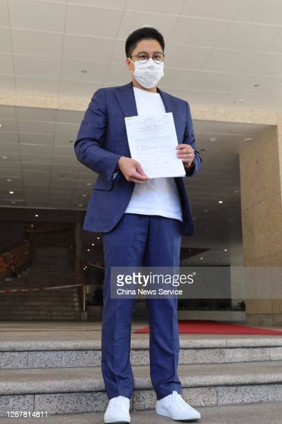Kenneth Fok Kai-kong, vice-president of the Fok Ying Tung Group, poses for photos as he submits an application for the Legislative Council Election...