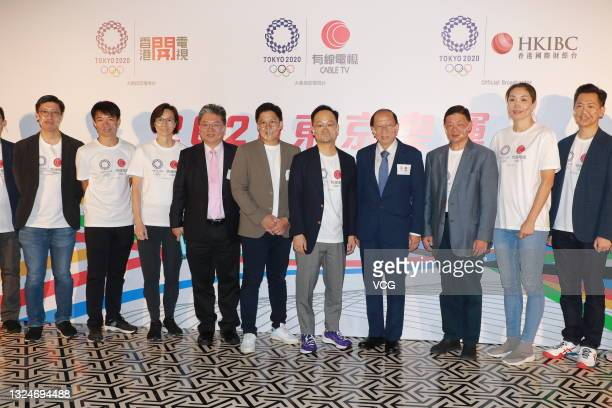 Kenneth Fok Kai-kong , vice-president of the Sports Federation and Olympic Committee of Hong Kong, attends a press conference for Tokyo 2020 Olympics...