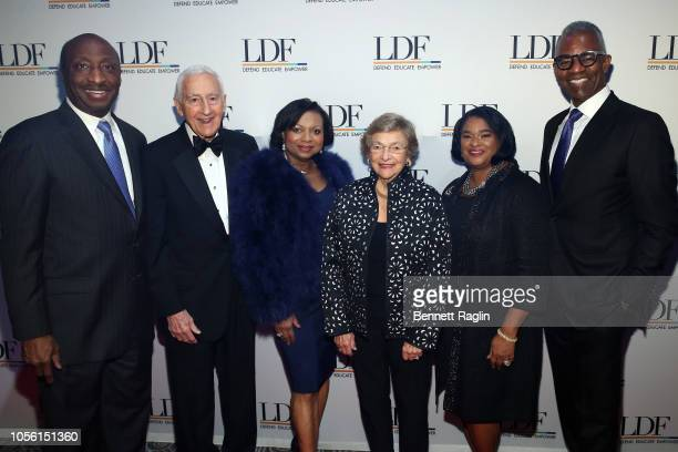 Kenneth Frazier Dr P Roy Vagelos Andrea Frazier Diana Vagelos Robyn Coles and Tony Coles attend the NAACP LDF 32nd National Equal Justice Awards...