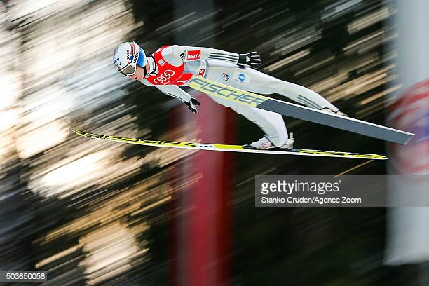 Kenneth Gangnes of Norway competes during the FIS Nordic World Cup Four Hills Tournament on January 6 2016 in Bischofshofen Austria